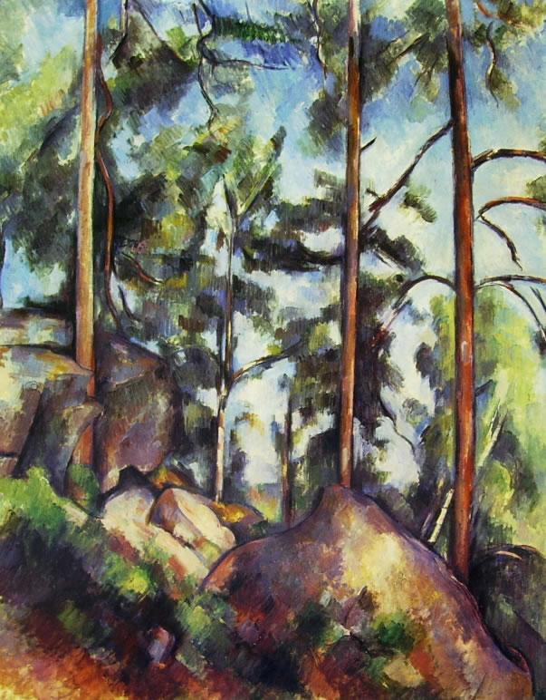 Paul Cezanne: Sottobosco in Provenza (Alberi e rocce)