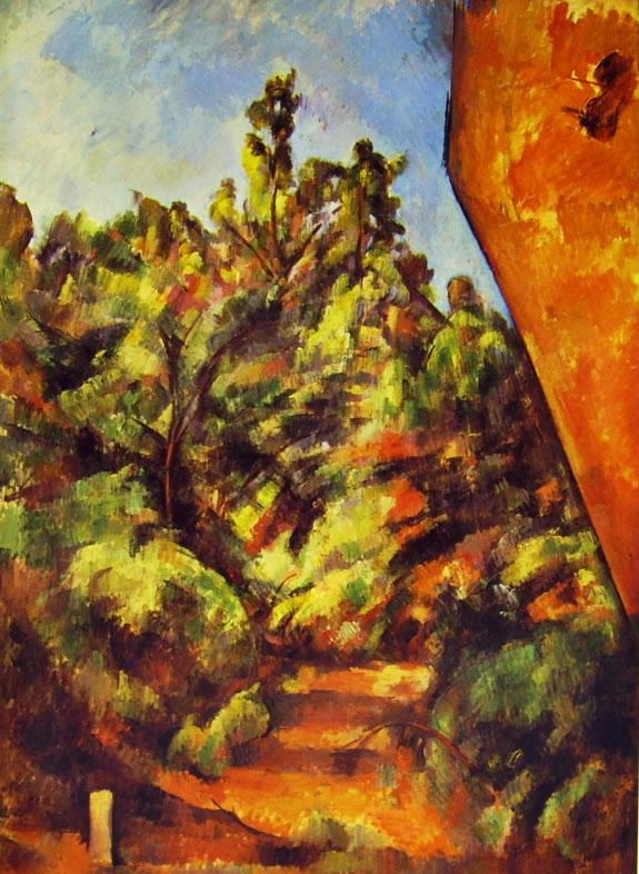 Paul Cezanne: La rupe rossa