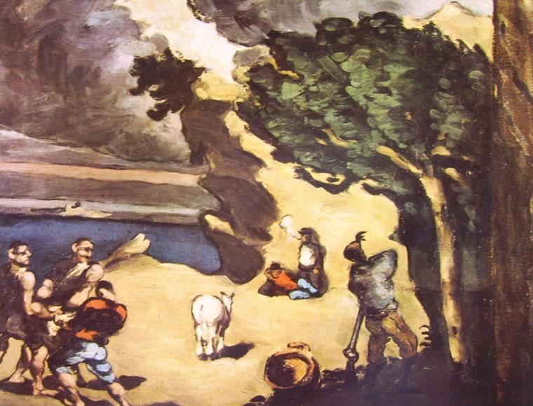 Paul Cezanne: La favola dei ladri e l'asino