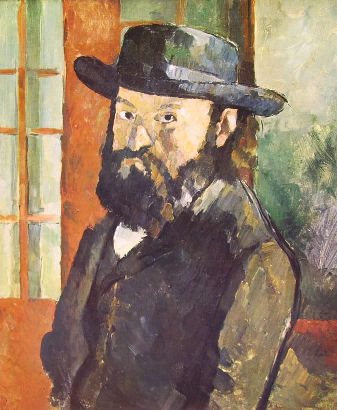 Autoritratto con cappello di Paul Cezanne