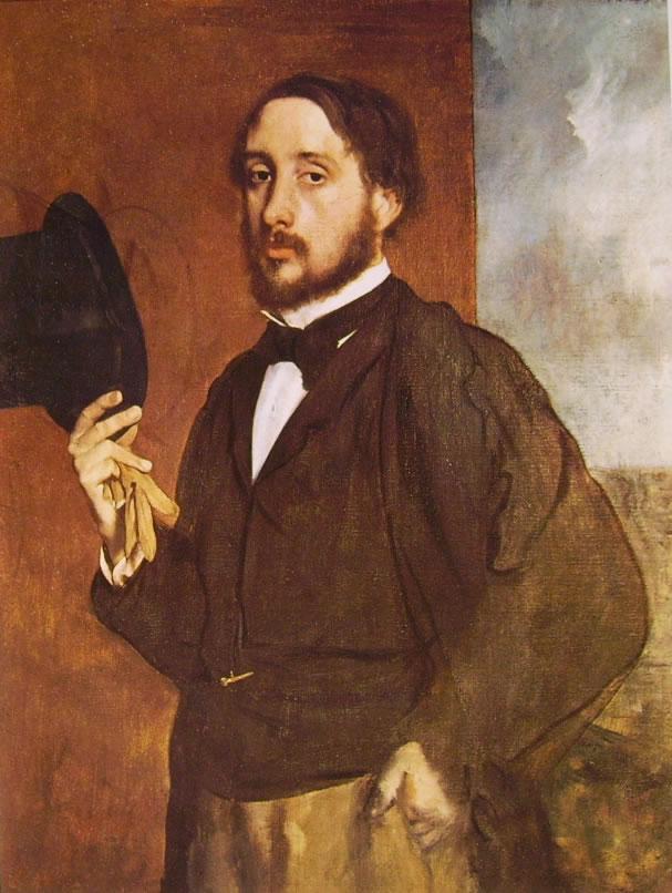 Degas che saluta - Autoritratto di Edgar Degas