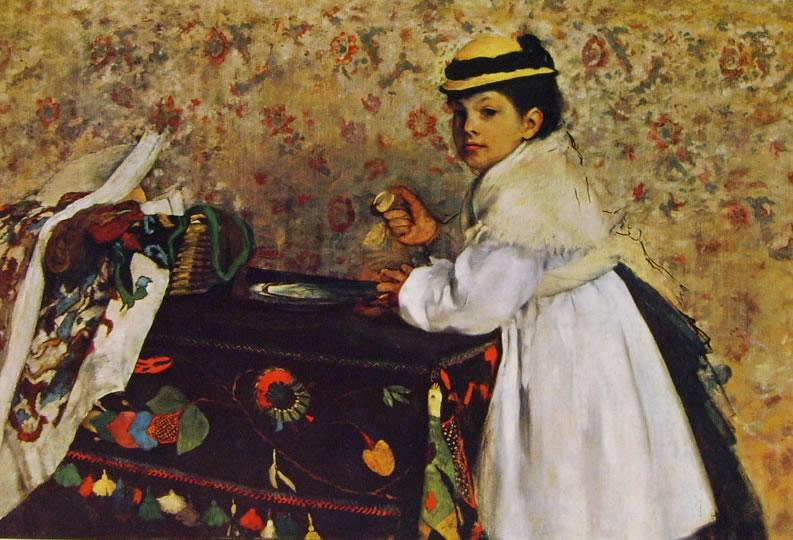 Edgar Degas: Ritratto di Hortense Valpincon