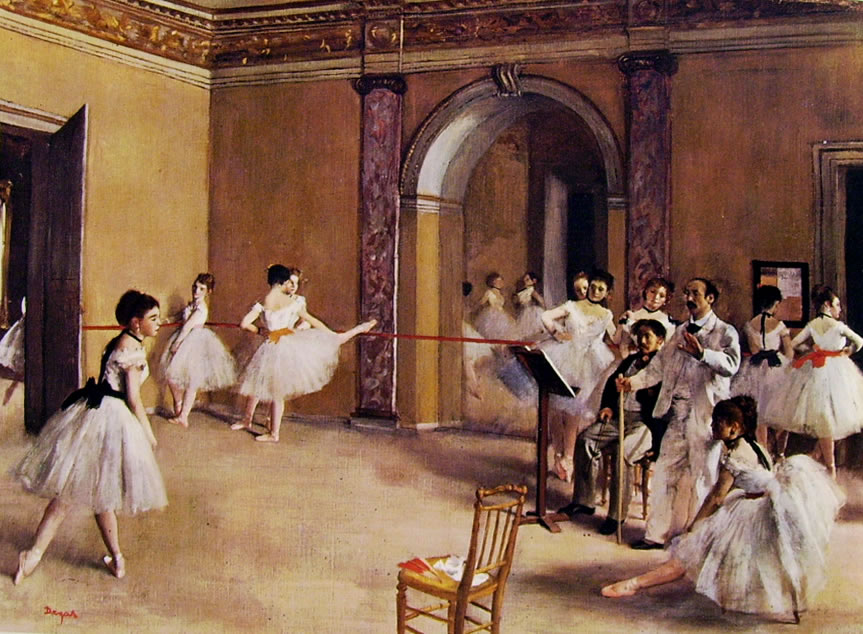 Edgar Degas: Scuola di ballo dell'Opera (Museo d'Orsay)