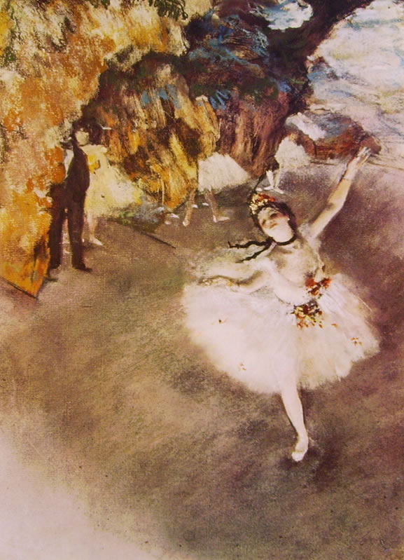 Edgar Degas: Ballerina che fa un saluto