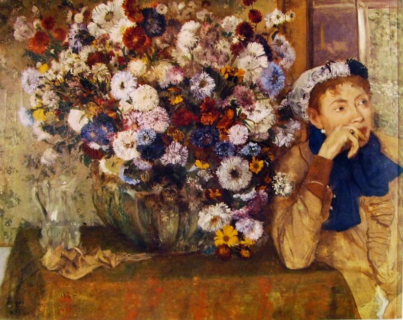 La donna con i crisantemi