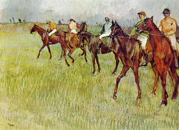 Fantini sotto la pioggia, 1881 pastello cm. 47x65