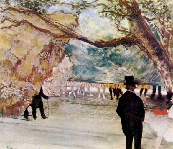 Il sipario, 1881 pastello cm. 35 x 41