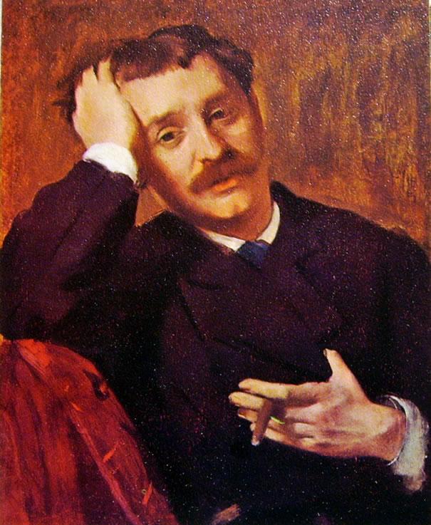 Edgar Degas:Ritratto di Pagans (l'uomo col sigaro)