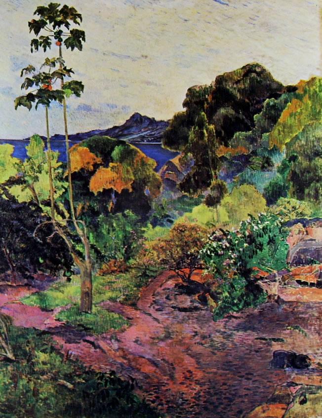 Gauguin: Vegetazione tropicale