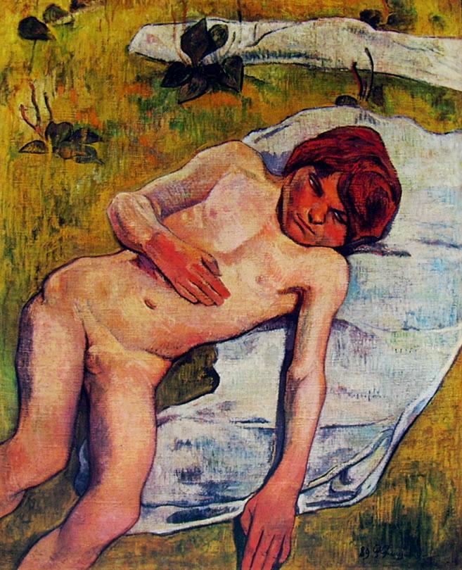Bambino bretone nudo