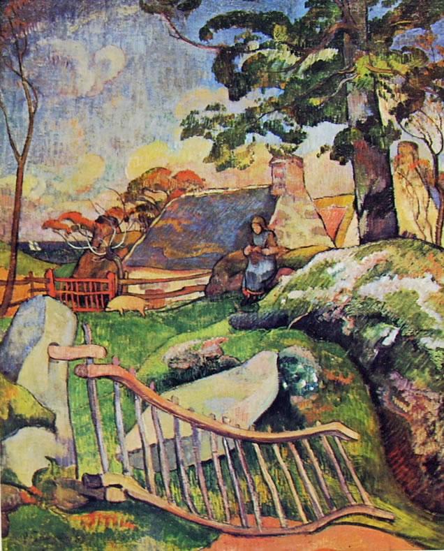 Gauguin: Il cancello di legno (Hausammann)