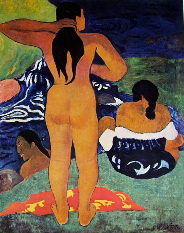 Donne tahitiane sulla spiaggia