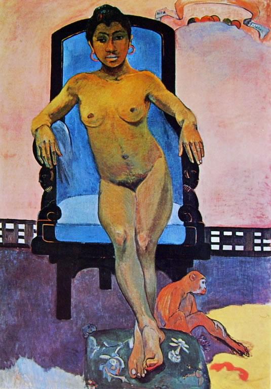 Paul Gauguin: Anna Martin e la scimmia Taoa