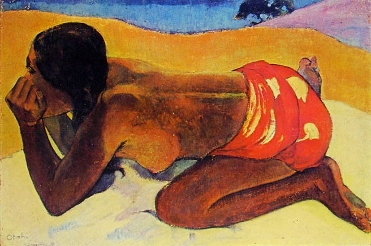 Paul Gauguin: Otahi o Donna tahitiana accosciata
