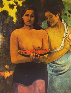Paul Gauguin: Due donne tahitiane, 94 x 73, New York, Metropolitan Museum.