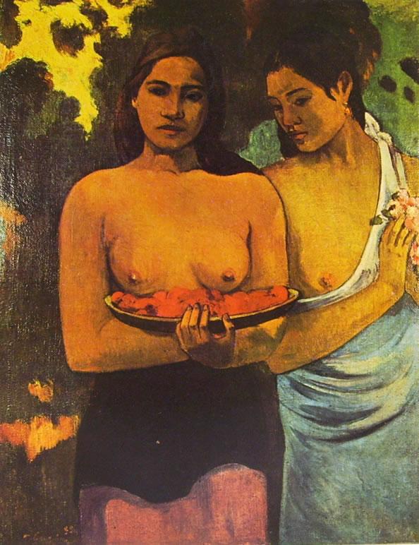 Gauguin: Due donne tahitiane