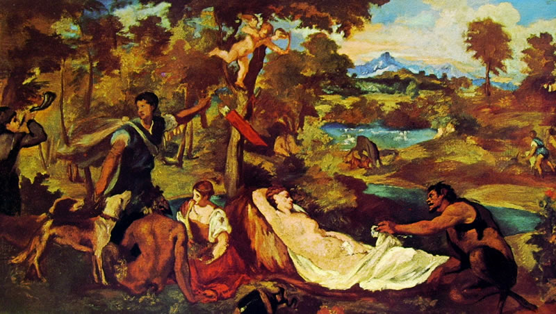 Edouard Manet: Giove ed Antiope