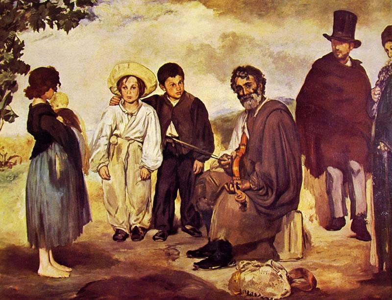 Edouard Manet: Il vecchio musicista (Washington)