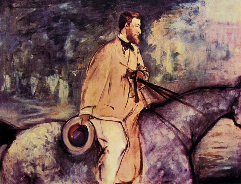 Edouard Manet: Il pittore Guillaudin a cavallo