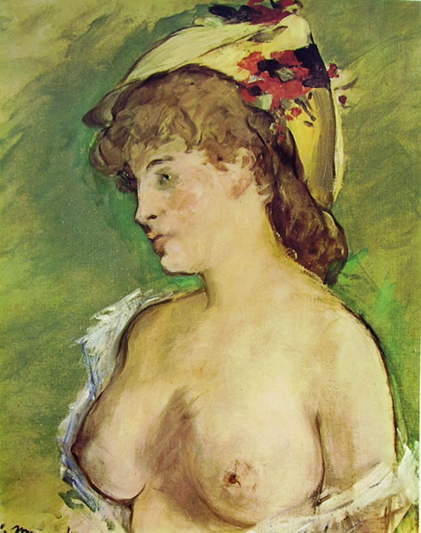 Edouard Manet: Bionda col seno nudo