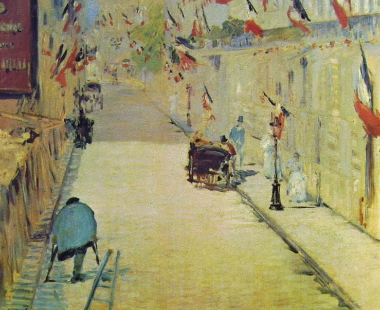 Edouard Manet: Rue Mosnier imbandierata