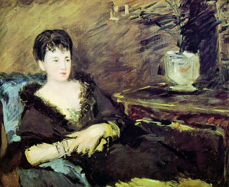 Edouard Manet: Ritratto di Isabelle Lemonnier seduta