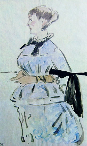 Edouard Manet: Ritratto di Isabelle Lemonnier