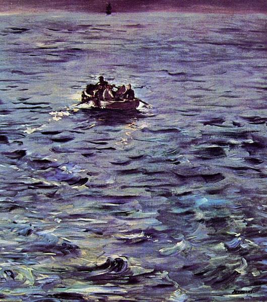 Edouard Manet: L'evasione di Rochefort di Edouard Manet