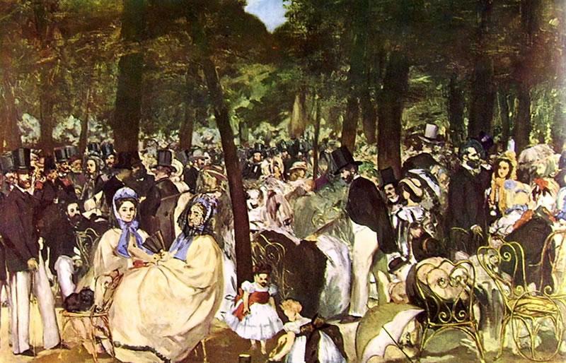 Manet - Musica alle Tuileries