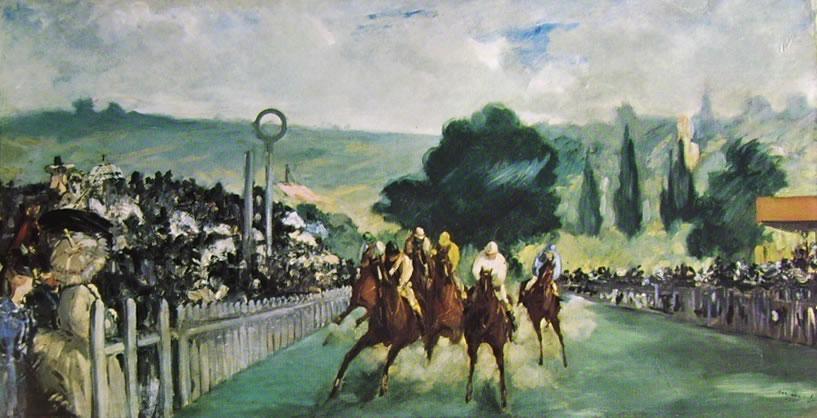 Edouard Manet: Corsa di cavalli a Longchamp