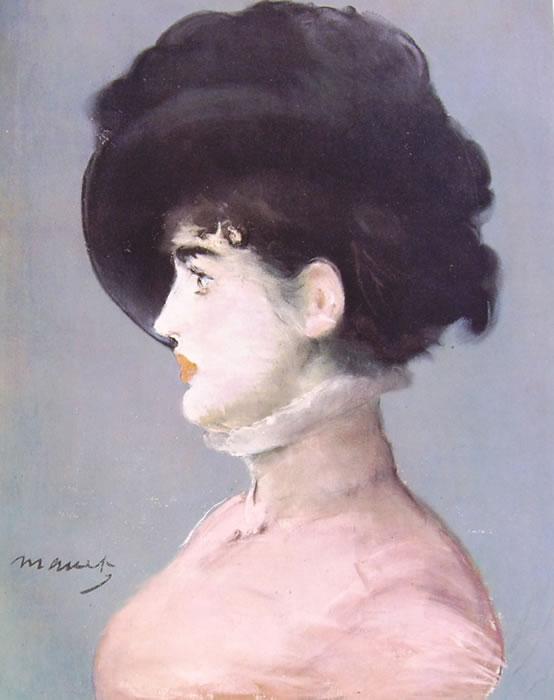 Edouard Manet: Signora con cappello nero