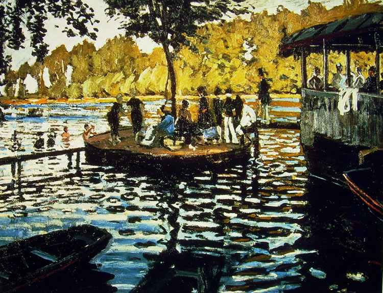 Claude Monet: La Grenouillere (Metropolitan Museum)