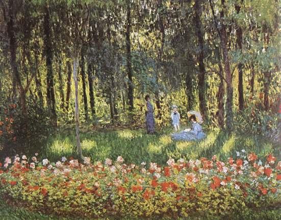 Claude Monet - Famiglia Monet in giardino