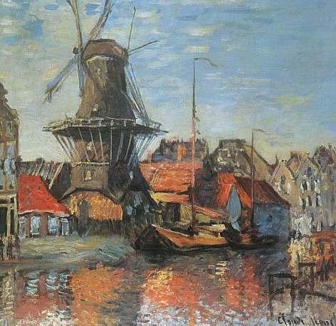 Claude Monet - Mulino ad Amsterdam