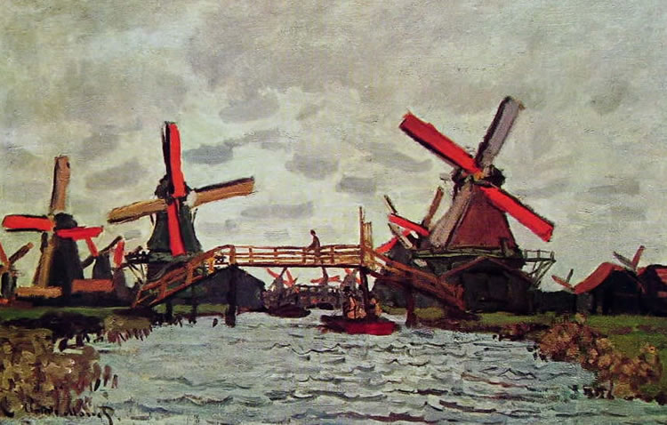 Claude Monet: Mulini a Zandam