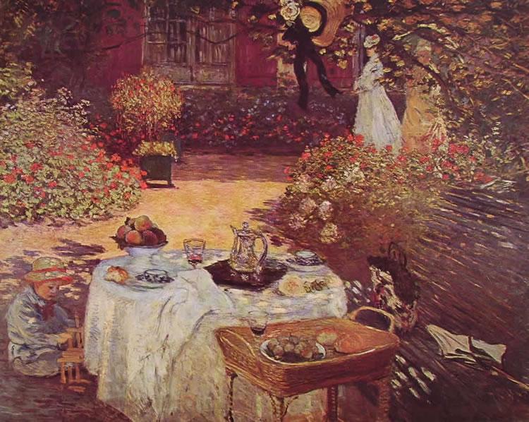 Colazione in giardino di Monet