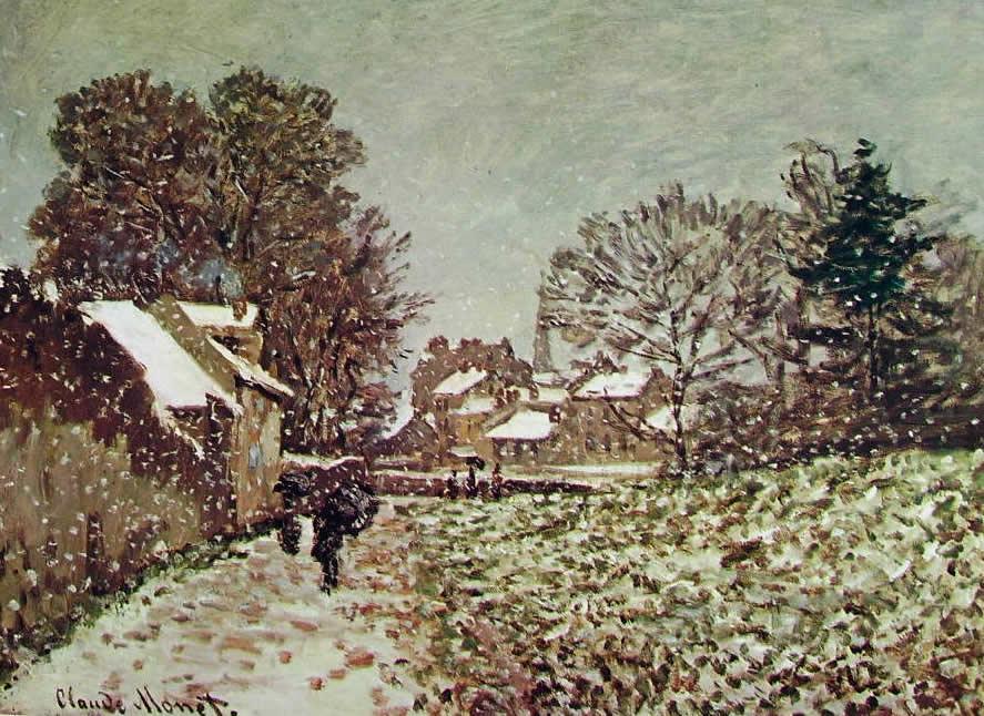 Claude Monet: Nevicata ad Argenteuil
