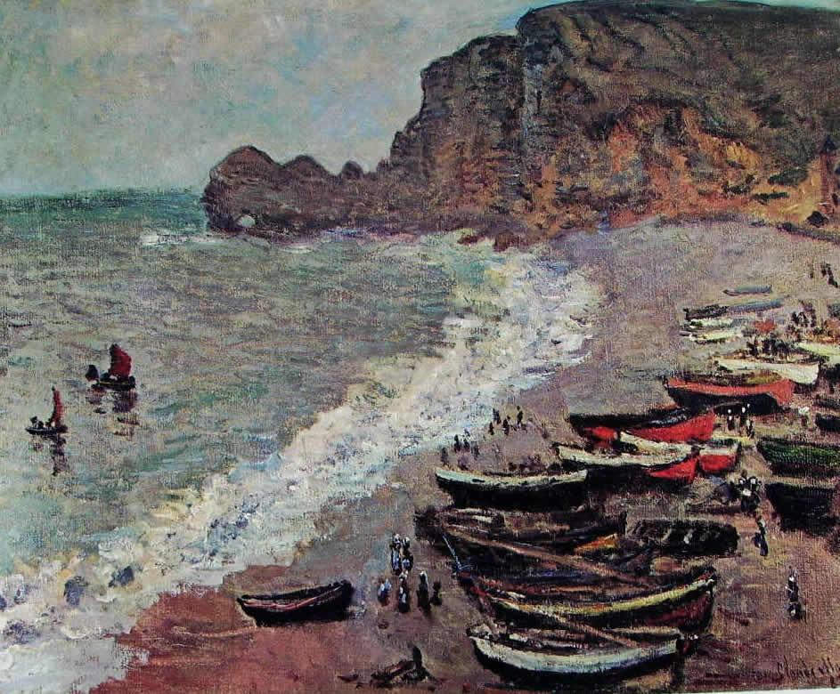 Claude Monet: Barche sulla spiaggia a Etretat
