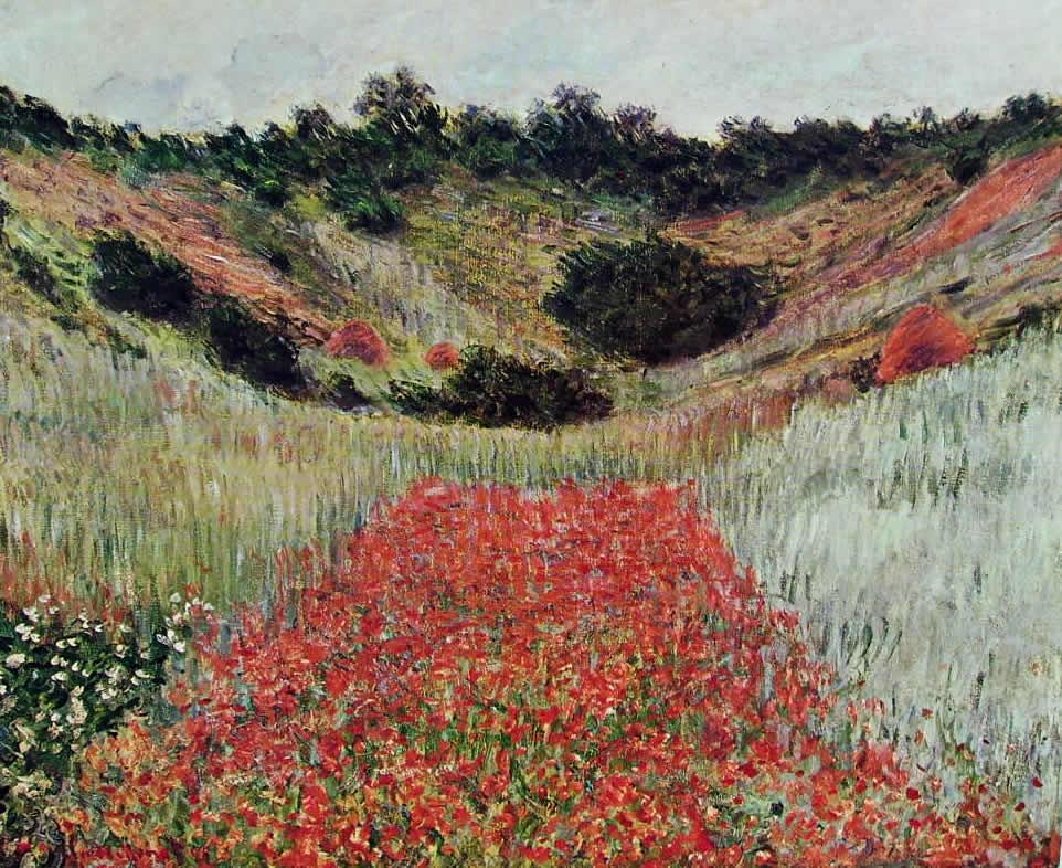 Claude Monet: Campo di papaveri presso Giverny