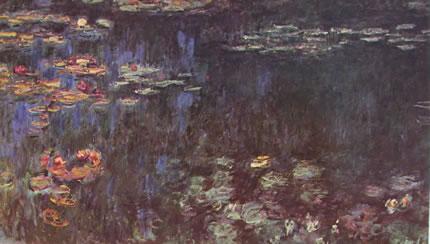 Claude Monet: Ninfee particolare dei Riflessi