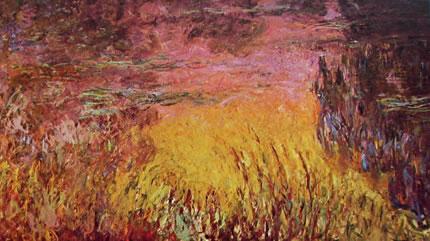 Claude Monet: Ninfee particolare del Tramonto