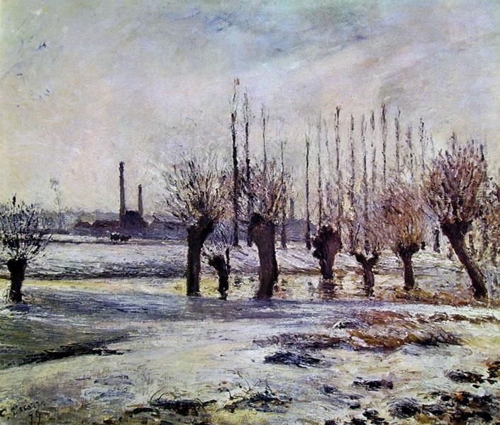 Camille Pissarro: Effetto neve vicino a Pontoise