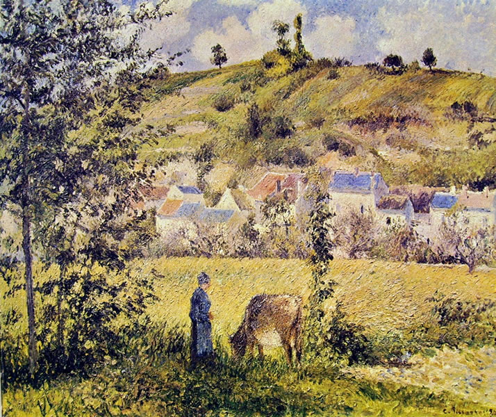 Camille Pissarro: Paesaggio a Chaponval