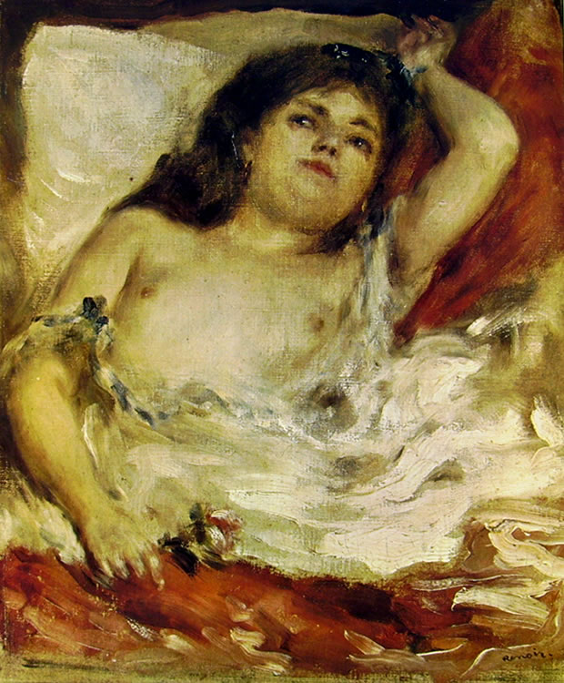 Pierre-Auguste Renoir: Donna sdraiata, 1871, 28 x 25, Museo d'Orsay, Parigi