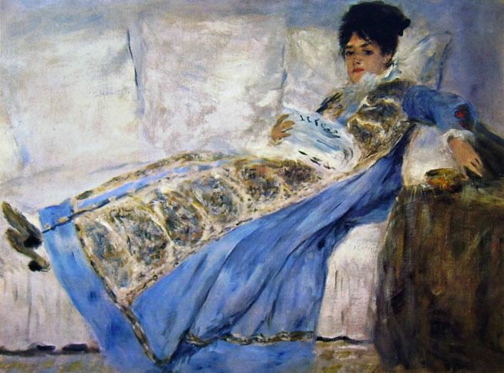 La signora Monet in lettura, cm. 54 x 73 Fundacao Gulbenkian Lisbona