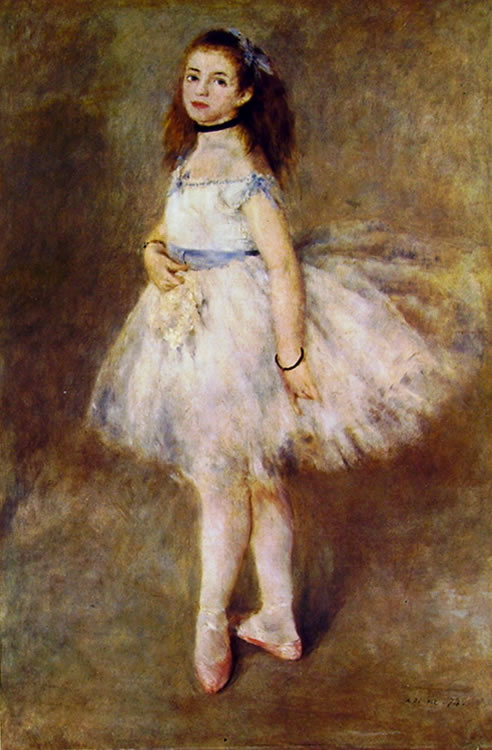Renoir: Ballerina (Washington), 1874, 142 x 93 National Gallery of Art, Washington