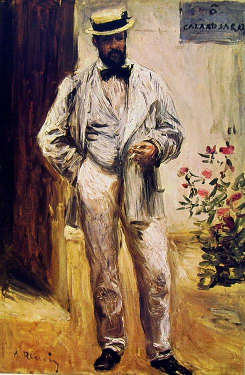 Ritratto di Charles Coeur in giardino di Pierre-Auguste Renoir, 1874, cm. 42 x 30 Museo d'Orsay, Parigi
