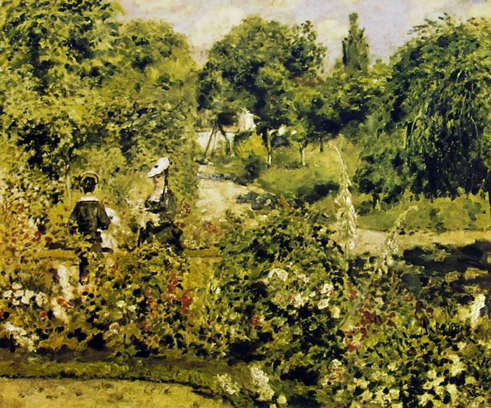 Renoir: Giardino a Fontenay, 1874, cm 51 x 62, Reinhart Winterthur