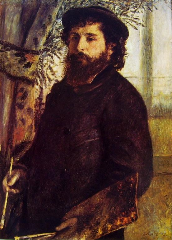 Renoir: Ritratto di Claude Monet con la tavolozza, 1875, 84 x 60, Museo d'Orsay Parigi