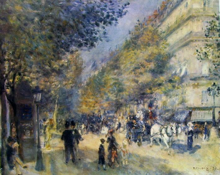 Renoir - Boulevard a Parigi
